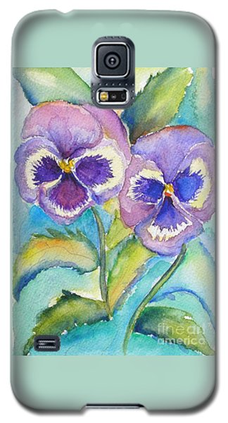 Pansies Galaxy S5 Case by Patricia Piffath