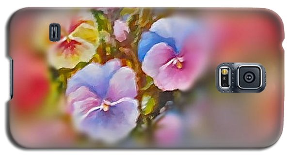 Galaxy S5 Case featuring the painting Pansies by Patricia Schneider Mitchell