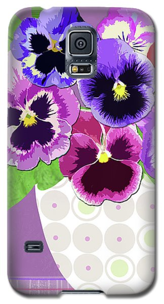 Pansies Stand For Thoughts Galaxy S5 Case
