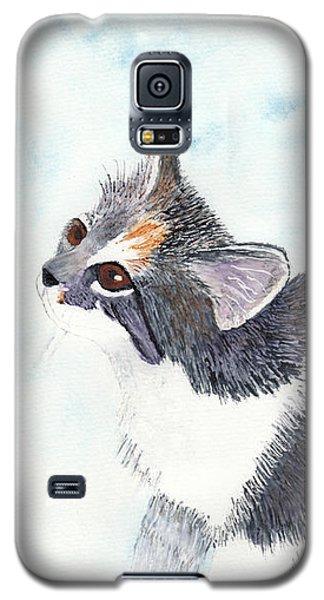 Calico Barn Cat Watercolor Galaxy S5 Case