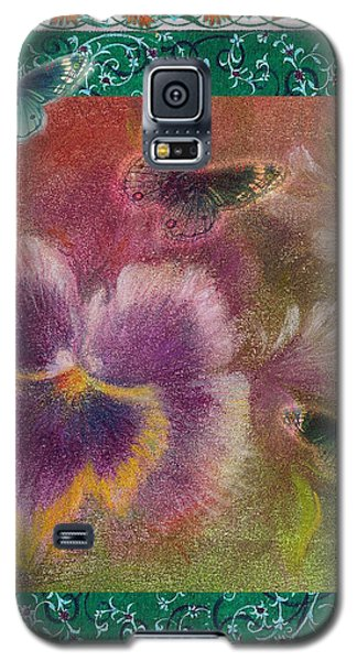 Pansy Butterfly Asianesque Border Galaxy S5 Case