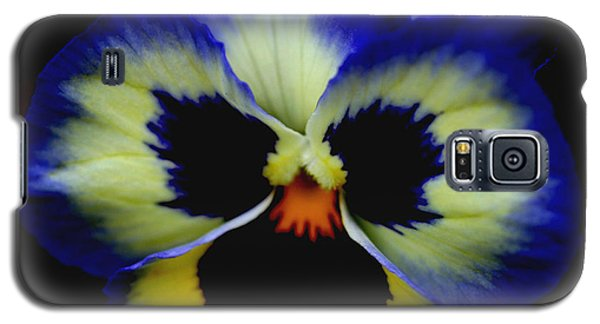 Pansy Face Galaxy S5 Case by Smilin Eyes  Treasures