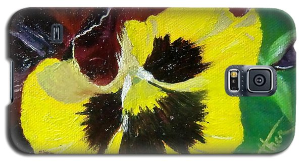 Galaxy S5 Case featuring the painting Pansy No. Ten by Bonnie Heather