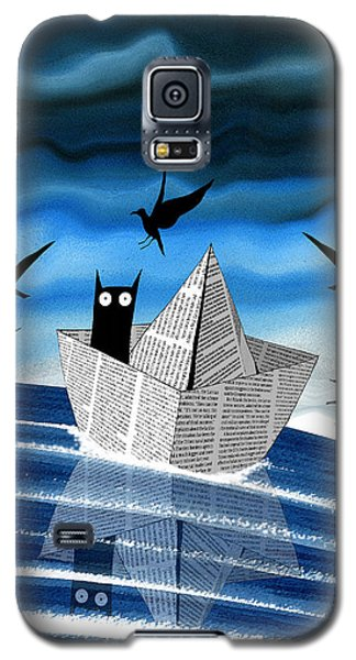 Seagull Galaxy S5 Case - Paper Boat  by Andrew Hitchen