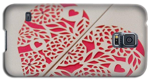 Paper Cut Heart Galaxy S5 Case