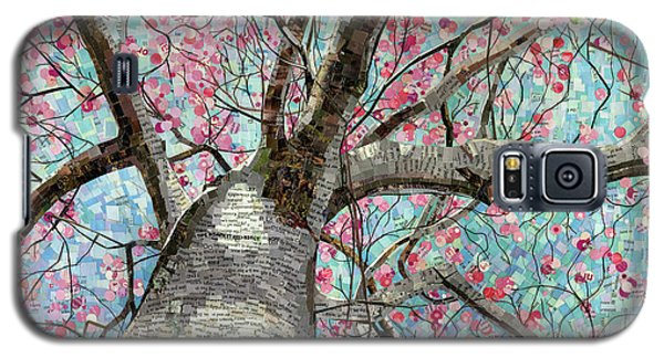 Galaxy S5 Case featuring the mixed media Paper Magnolias by Shawna Rowe