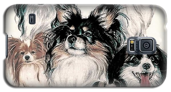Papillon And Phalene Collage Galaxy S5 Case