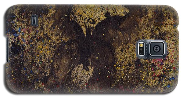 Galaxy S5 Case featuring the painting Papillon Noir - Dark Butterfly - Mariposa Negra by Marc Philippe Joly