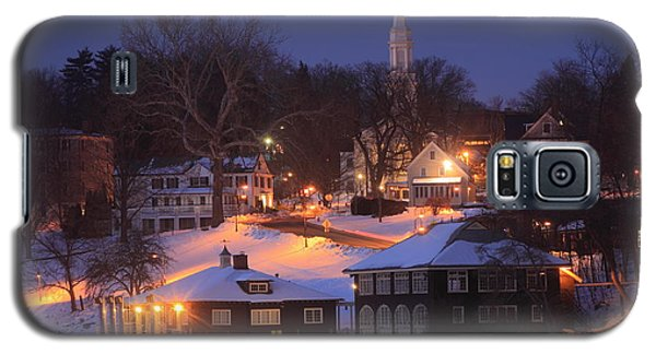 Paradise Pond Smith College Winter Evening Galaxy S5 Case by John Burk