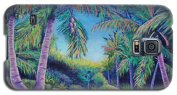 Galaxy S5 Case featuring the painting Paradise by Susan DeLain
