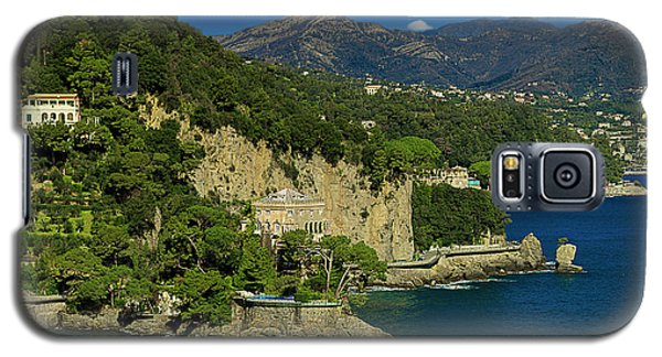 Paraggi Bay Castle And Liguria Mountains Portofino Park  Galaxy S5 Case