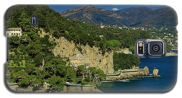 Paraggi Bay Castle And Liguria Mountains Portofino Park  Galaxy S5 Case