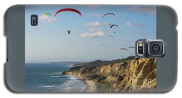 Paragliders At Torrey Pines Gliderport Over Black's Beach Galaxy S5 Case