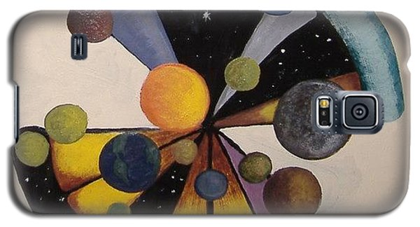 Galaxy S5 Case featuring the painting Parallel  Universe by Steve  Hester