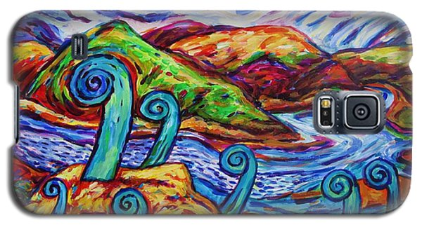 Galaxy S5 Case featuring the painting Paratawhiti At Oruru River by Dianne  Connolly