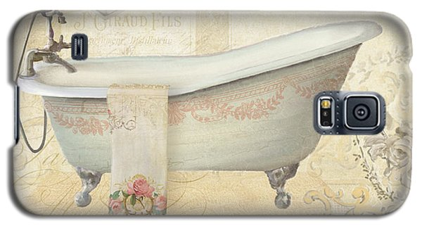 Parchment Paris - Le Bain Or The Bath Chandelier And Tub With Roses Galaxy S5 Case