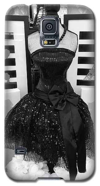 Galaxy S5 Case featuring the photograph Paris Ballerina Costume Black And White French Decor - Parisian Ballet Art Black And White Art Deco by Kathy Fornal