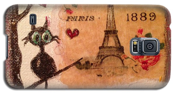 Paris Cat  Galaxy S5 Case by Roxy Rich