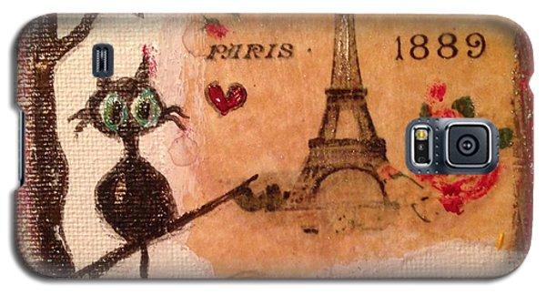 Paris Cat  Galaxy S5 Case by Roxy Rich