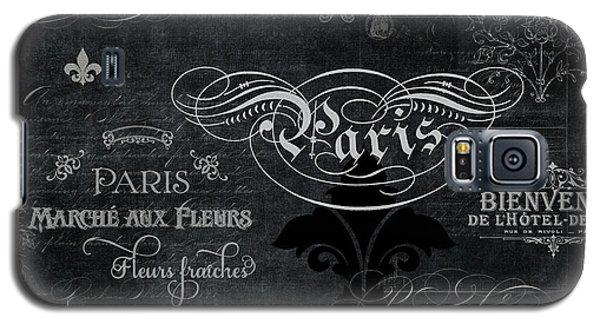 Paris Chalkboard Typography 1 Galaxy S5 Case by Audrey Jeanne Roberts