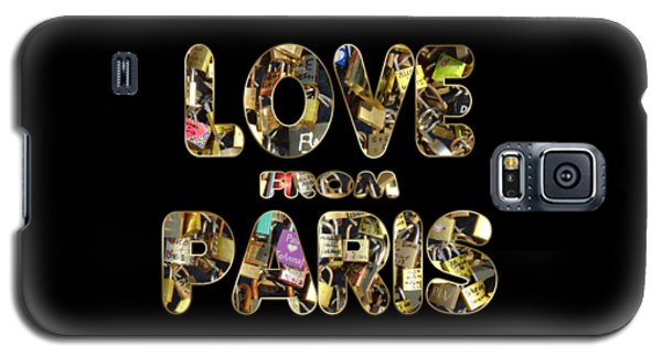 Galaxy S5 Case featuring the painting Paris City Of Love And Lovelocks by Georgeta Blanaru