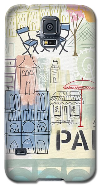 Paris Cityscape- Art By Linda Woods Galaxy S5 Case by Linda Woods