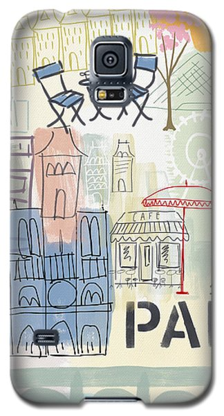 Paris Cityscape- Art By Linda Woods Galaxy S5 Case