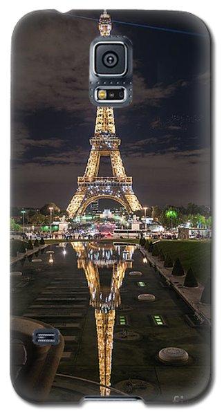 Paris Eiffel Tower Dazzling At Night Galaxy S5 Case by Mike Reid