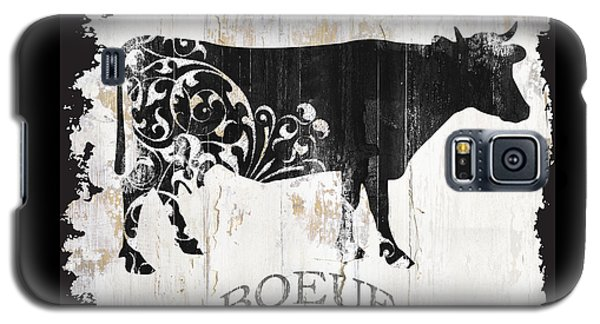 Cow Galaxy S5 Case - Paris Farm Sign Cow by Mindy Sommers