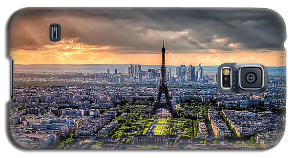 Galaxy S5 Case featuring the photograph Paris From Above by Tim Stanley