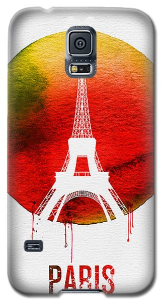 Paris Landmark Red Galaxy S5 Case by Naxart Studio