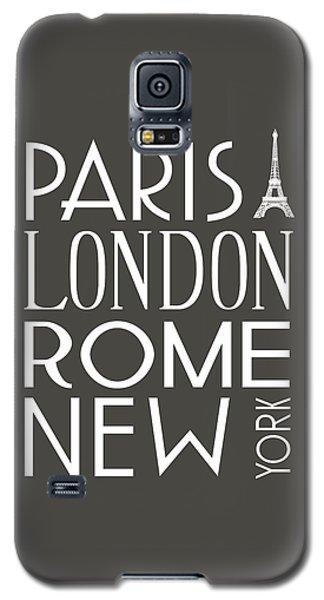 Galaxy S5 Case featuring the digital art Paris, London, Rome And New York Pillow by Jaime Friedman