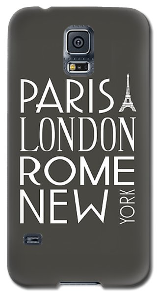 Paris, London, Rome And New York Pillow Galaxy S5 Case by Jaime Friedman