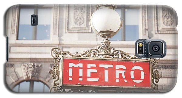 Paris Metro Sign Architecture Galaxy S5 Case