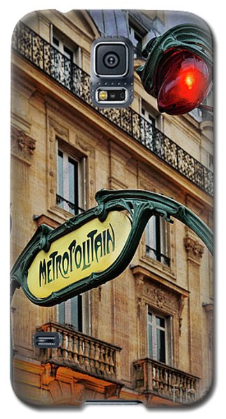 Galaxy S5 Case featuring the photograph Paris Metropolitain by Elena Nosyreva
