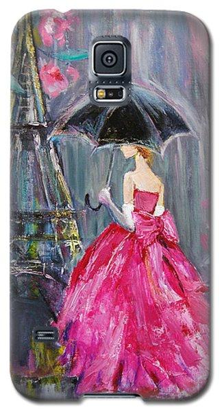 Galaxy S5 Case featuring the painting Paris Rain by Jennifer Beaudet