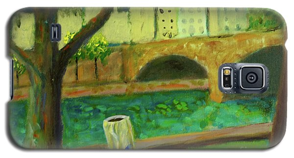 Galaxy S5 Case featuring the painting Paris Rubbish by Paul McKey
