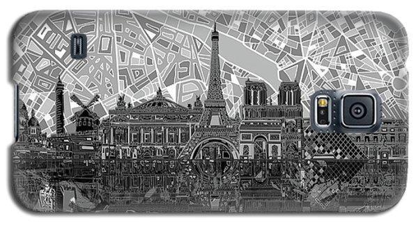Paris Skyline Black And White Galaxy S5 Case