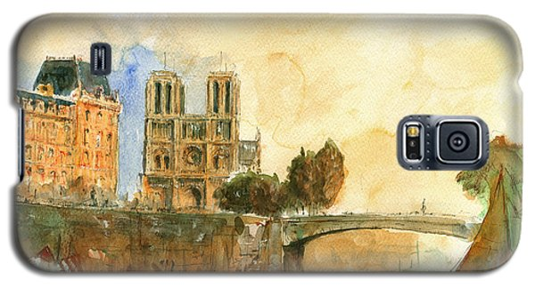 Paris Watercolor Galaxy S5 Case by Juan  Bosco