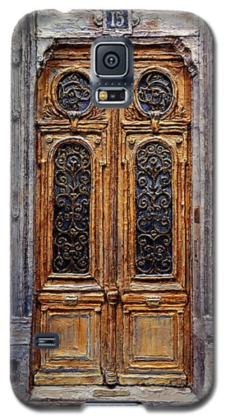 Galaxy S5 Case featuring the painting Parisian Door No. 15 by Joey Agbayani