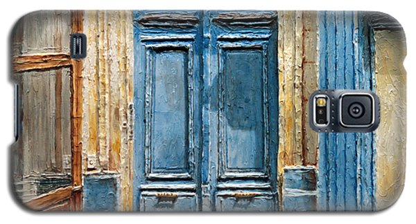 Galaxy S5 Case featuring the painting Parisian Door No.36 by Joey Agbayani