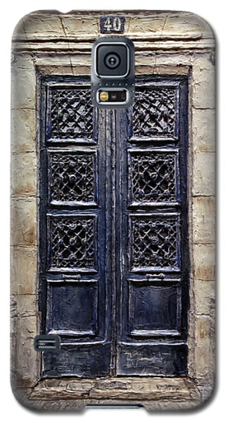 Galaxy S5 Case featuring the painting Parisian Door No.40 by Joey Agbayani