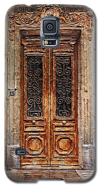 Galaxy S5 Case featuring the painting Parisian Door No.7 by Joey Agbayani