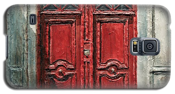 Galaxy S5 Case featuring the painting Parisian Door No.9 by Joey Agbayani