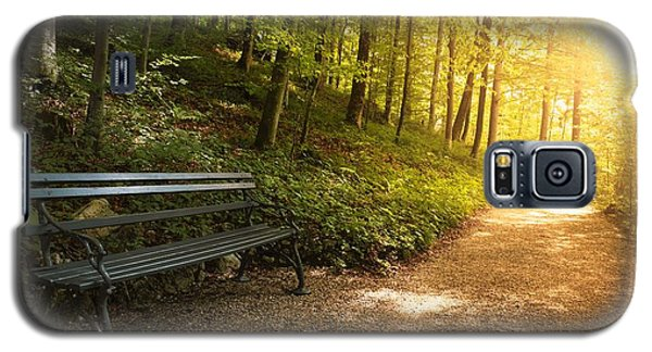 Galaxy S5 Case featuring the photograph Park Bench In Fall by Chevy Fleet
