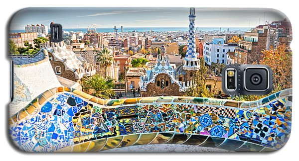 Galaxy S5 Case featuring the photograph Park Guell Barcelona by Luciano Mortula