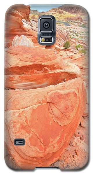 Galaxy S5 Case featuring the photograph Park Road View In Valley Of Fire by Ray Mathis