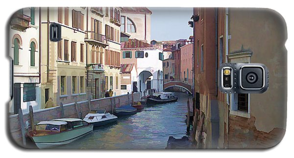 Galaxy S5 Case featuring the photograph Parked In Venice by Roberta Byram