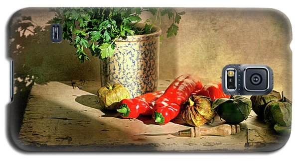 Galaxy S5 Case featuring the photograph Parsley And Peppers by Diana Angstadt