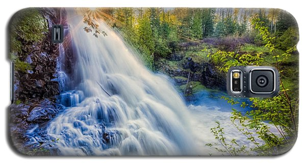 Galaxy S5 Case featuring the photograph Partridge Falls In Late Afternoon by Rikk Flohr